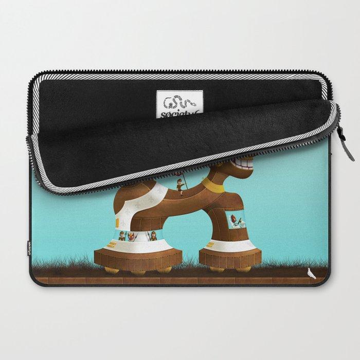 Trojanix, the lion-horse. Laptop Sleeve