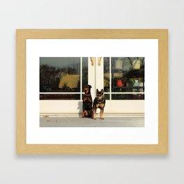 dos doggos Framed Art Print