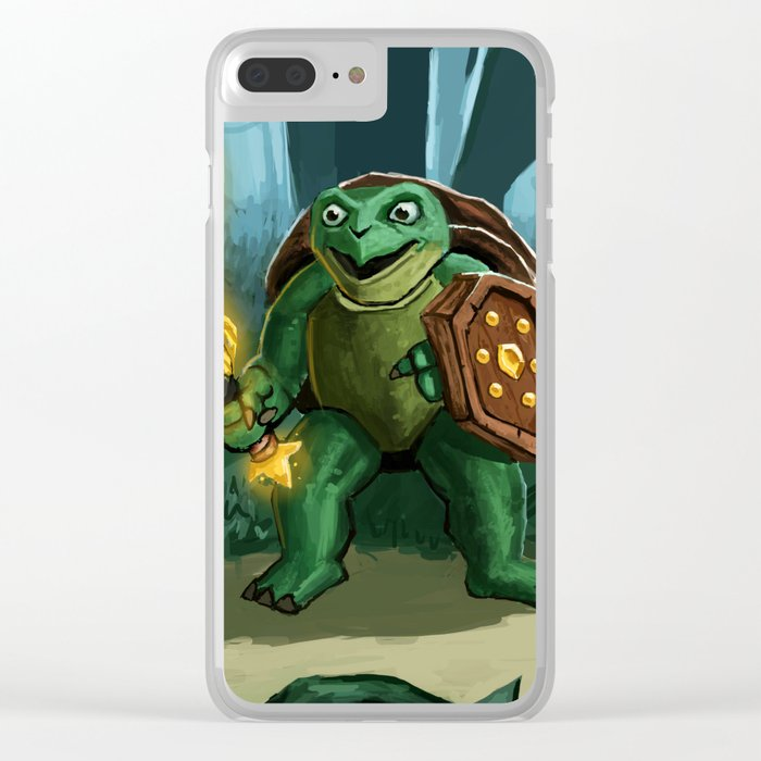 Turtle Paladin Clear iPhone Case
