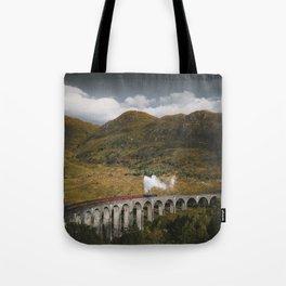 Train on a Glenfinnan Viaduct, Scotland Tote Bag