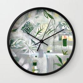 green_pattern Wall Clock