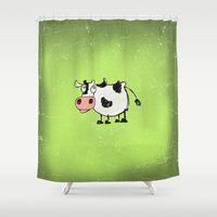 cow Shower Curtains featuring Cow by Mr and Mrs Quirynen