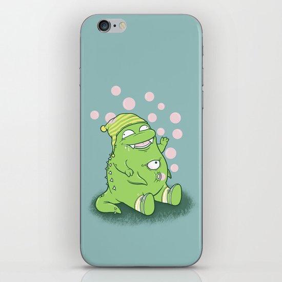 Happy Green Monster iPhone Skin