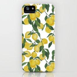 Lemons on Cloud iPhone Case