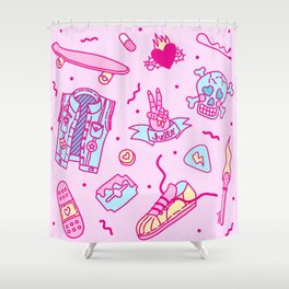 Pink Punk Shower Curtain