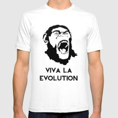 VIVA LA EVOLUTION White SMALL Mens Fitted Tee
