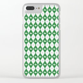 Slytherin Argyle Clear iPhone Case