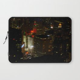 Wrigley Building in Bright Red and Green (Chicago Christmas/Holiday Collection) Laptop Sleeve