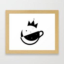 Self-Care Queen - Black Framed Art Print