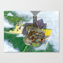 Up - Carl's House Cross-Section Canvas Print