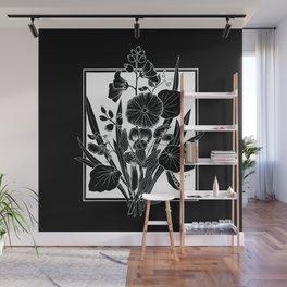 Black Bouquet Wall Mural