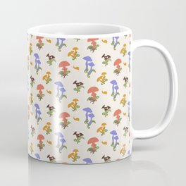 Playful Pattern with Mushrooms and Snails Coffee Mug