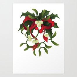 Under mistletoe Art Print