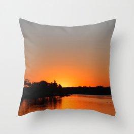 Sunset at Sunset Bay Throw Pillow