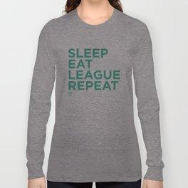 Eat League Sleep Repeat Long Sleeve T-shirt
