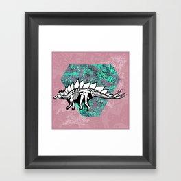 Stegosaur Fossil Framed Art Print