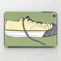 sneaker iPad Cases featuring Sneaker in profile by Sloe Gin Fizz