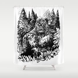 PACIFIC NORTHWEST SASQUATCH Shower Curtain