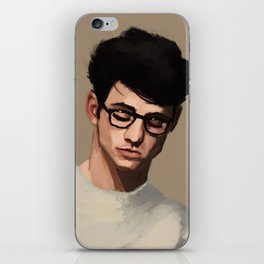 Guy's portrait iPhone Skin