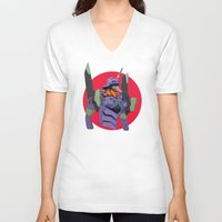 evangelion V-neck T-shirts featuring Evangelion | Eva-01 by incognek0