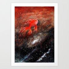 goldfish cosmos Art Print