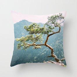 Sokolica Mountain Pine Tree Throw Pillow