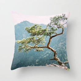Sokolica Mountain Pine Tree Throw Pillow