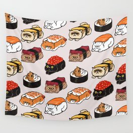 Sushi Persian Cat Wall Tapestry