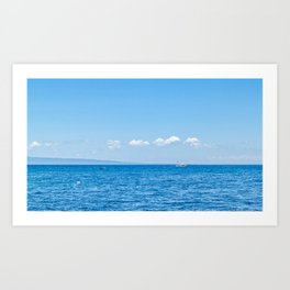 Shades of Blue Art Print