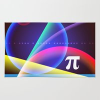 pi Area & Throw Rugs featuring Pi by Mark Sheeky