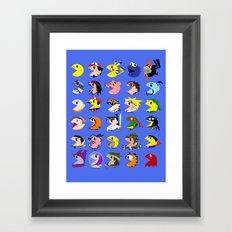 Pacmen Framed Art Print