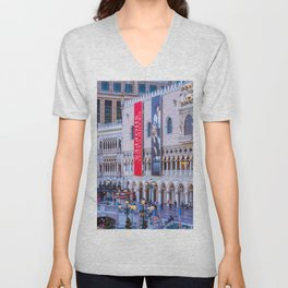 Doge's Palace Plaza Las Vegas, at dusk Unisex V-Neck