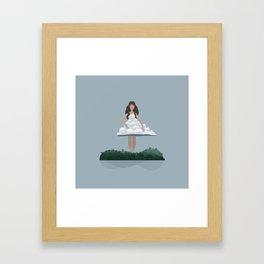 Cloud and woman Framed Art Print