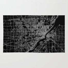 Toledo map ohio Rug