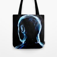 depression Tote Bags featuring Depression by Brandon Lynch