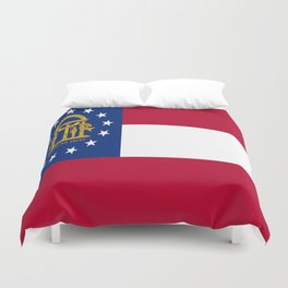 flag of the state of Georgia-Georgian,Gone with the wind,Atlanta,Colombus,Macon,Scarlett o'Hara,Usa Duvet Cover