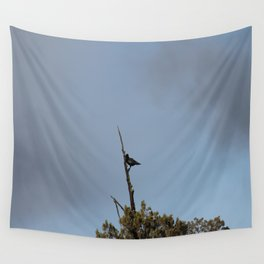 Perched Before the Storm Wall Tapestry