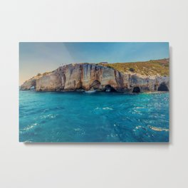Blue Caves, Zakynthos, Greece Metal Print