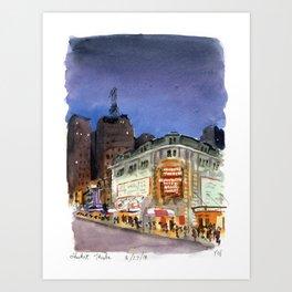 Shubert Theatre Hello Dolly Marquee Art Print