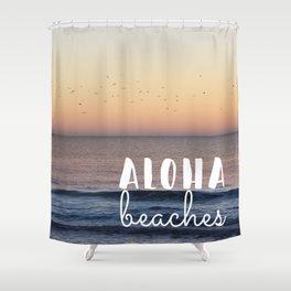 Aloha Beaches Shower Curtain