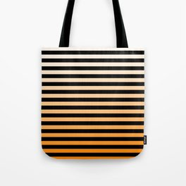 Orange Stripes Tote Bag