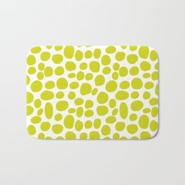Yellow hand drawing seamless pattern Bath Mat