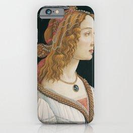 Idealized Portrait of a Lady (Portrait of Simonetta Vespucci as Nymph) iPhone Case