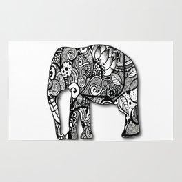 Zentangel Elephant Rug