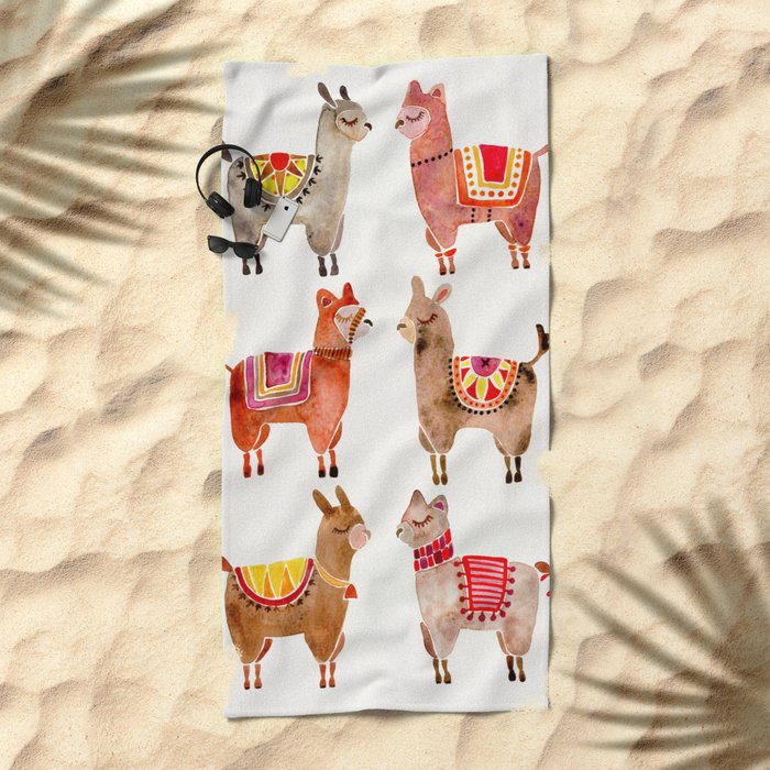 Alpacas Beach Towel