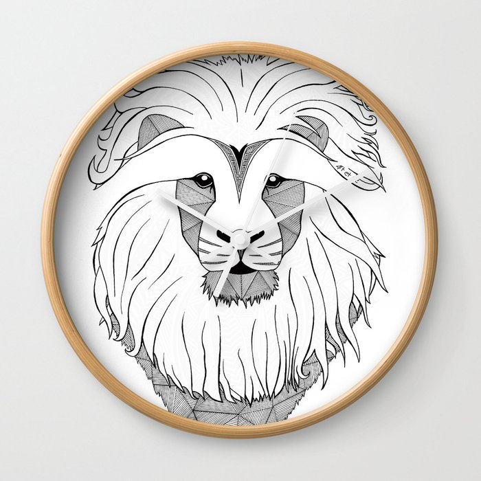 Lion - light Wall Clock