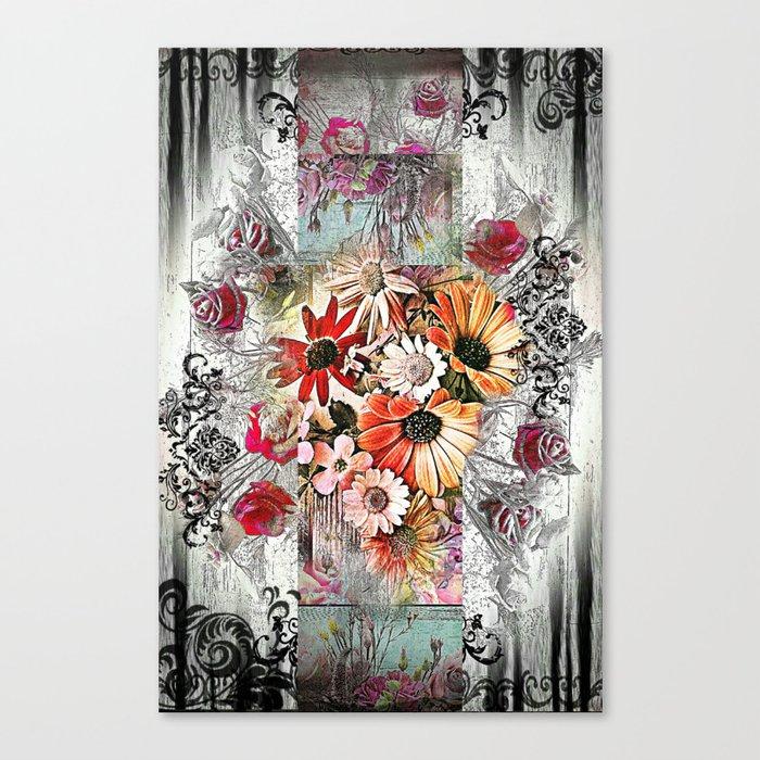 Victorian Flower Design Canvas Print