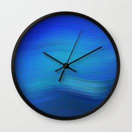 "Blue abstract design ""Lines"" Wall Clock"