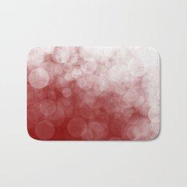 Cranberry Spotted Bath Mat