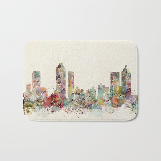 Atlanta georgia skyline Bath Mat